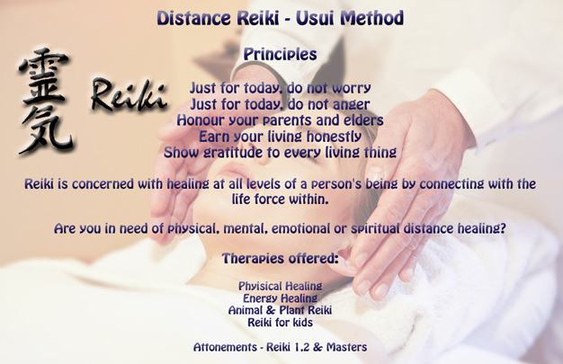 Reiki Therapy offered