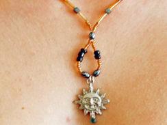Hematite Sun Necklace